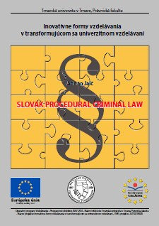 Slovak Procedural Criminal Law